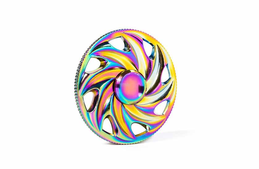Fidget Spinner - Metalic Rainbow 17/15