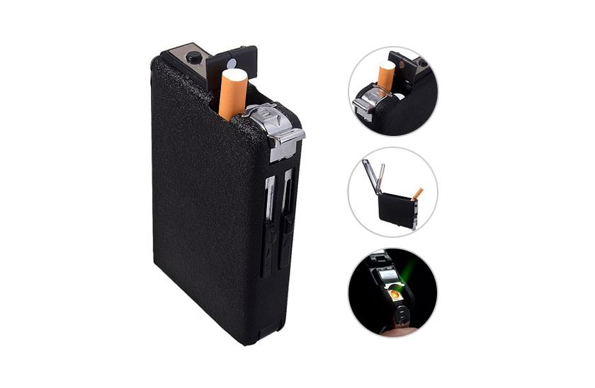 Cigaretové pouzdro s automatickým podavačem cigaret a zapalovačem