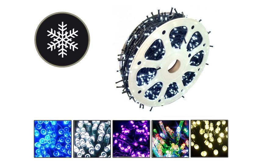 Vánoční venkovní LED řetězy - Efektní světelný řetěz - 100 metrů