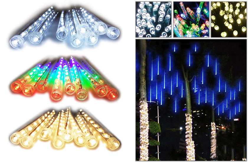 LED světelné rampouchy – 3 barvy – 50 cm