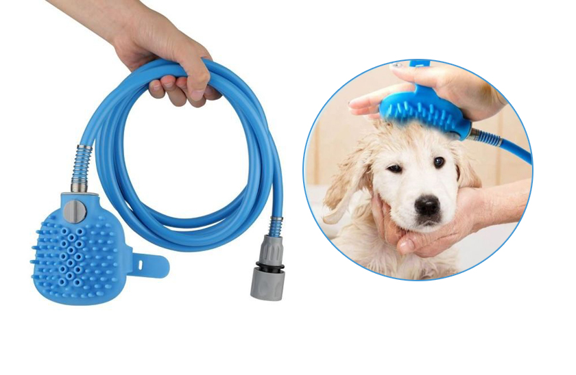 Ruční masážní sprcha pro psy, kočky a jiná zvířata