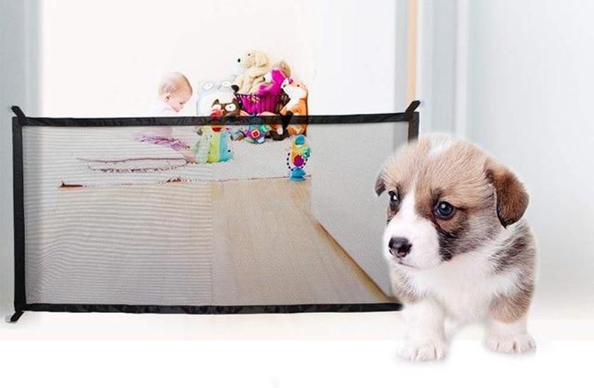 Síťová dvěřní zábrana pro psy