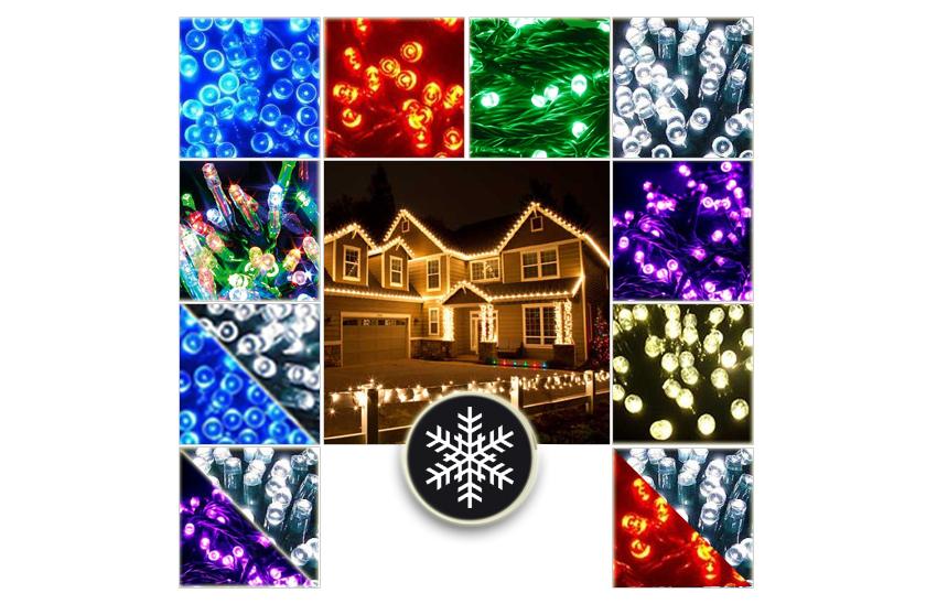 Vánoční venkovní LED řetězy - Efektní světelný řetěz - 21 metrů