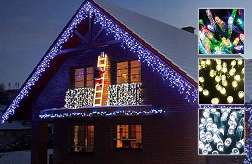 Venkovní LED vánoční závěs s dálkovým ovladačem - 40 metru