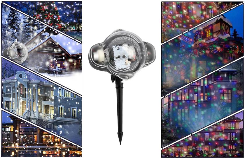 Vánoční projektor - padající světelné body