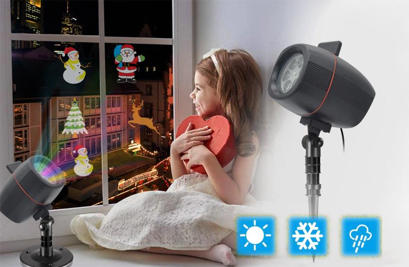 Vánoční projektor s bluetooth – barevné obrázky