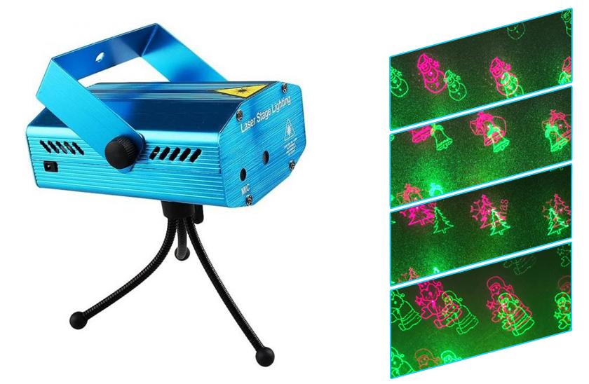 Disco laser – vánoční projektor obrázků – sněhulák