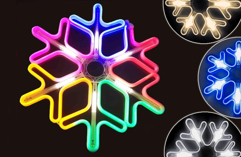 Vánoční LED neonová vločka do okna