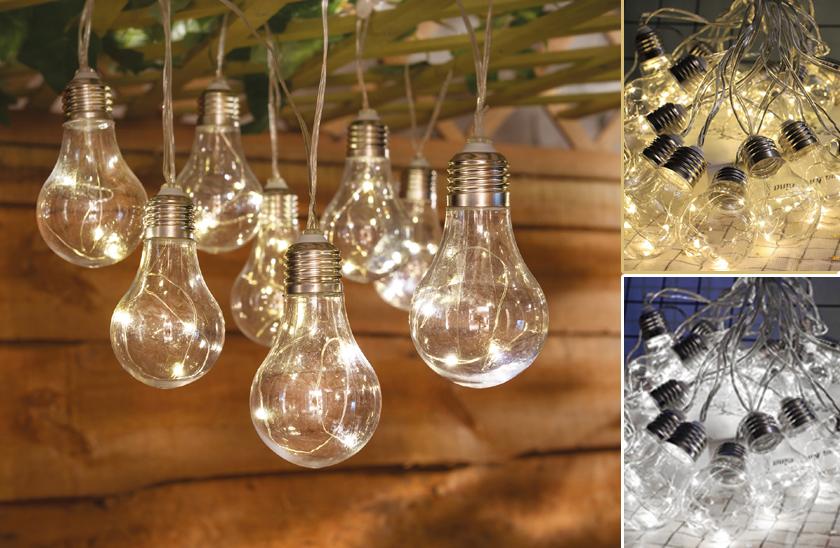 Světelný LED závěs s žárovkami - 2,25 metrů