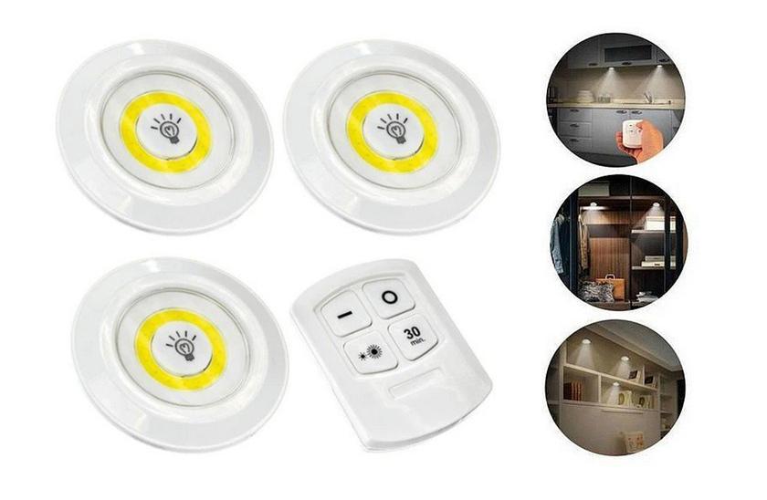 3x LED Bezdrátové svítidlo na dálkové ovládání