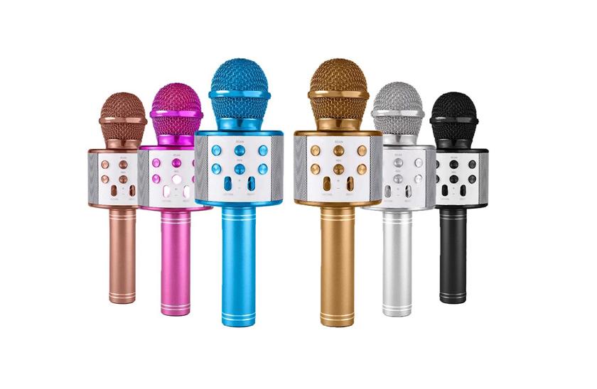 Bezdrátový bluetooth karaoke mikrofon