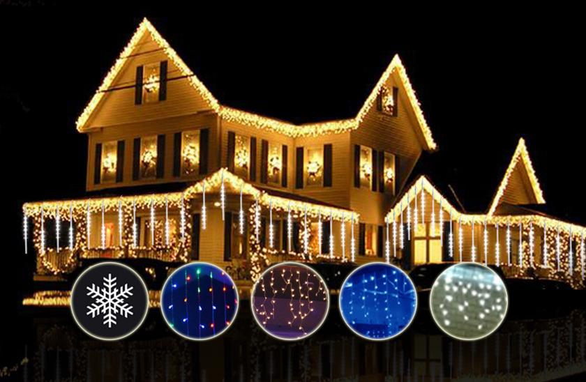 Venkovní LED vánoční závěs sdálkovým ovladačem – 50m