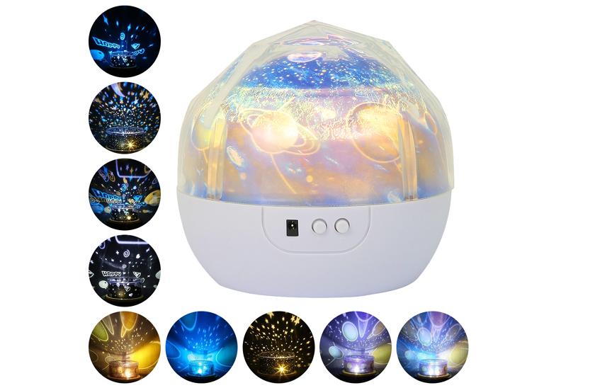 Lampička a projektor noční oblohy – 2v1