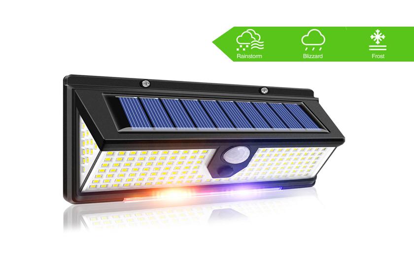Solární osvětlení 190 LED se senzorem pohybu a soumraku