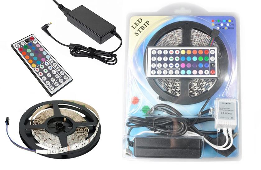 Lumenmax 5050 - RGB LED pásek - 5 metrů. Kompletní sada.