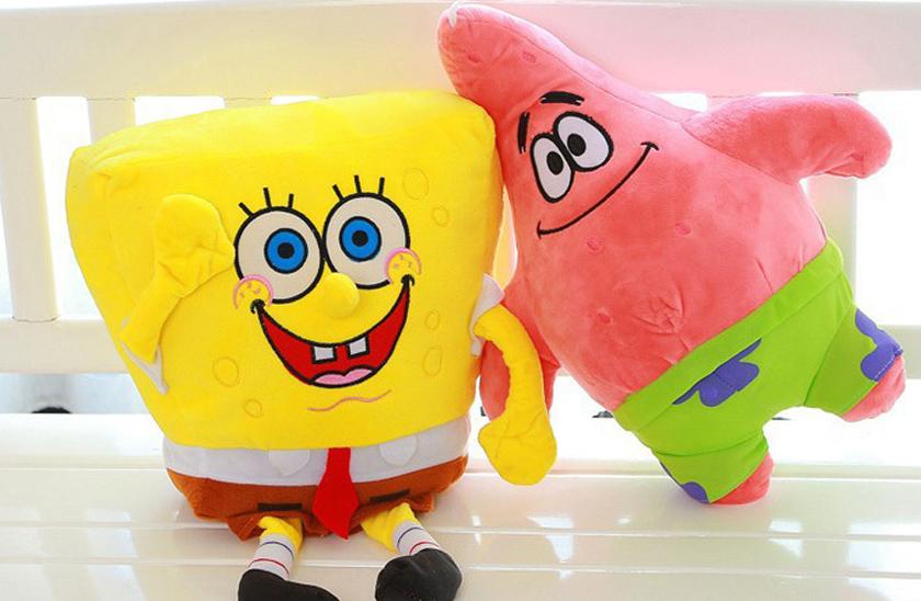 Plyšový Spongebob a Patrik Hvězdice - Plyšáci z oblíbeného seriálu. - obrázek