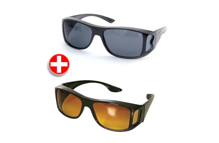 Brýle pro řidiče - HD Vision 2 kusy pro den i noc