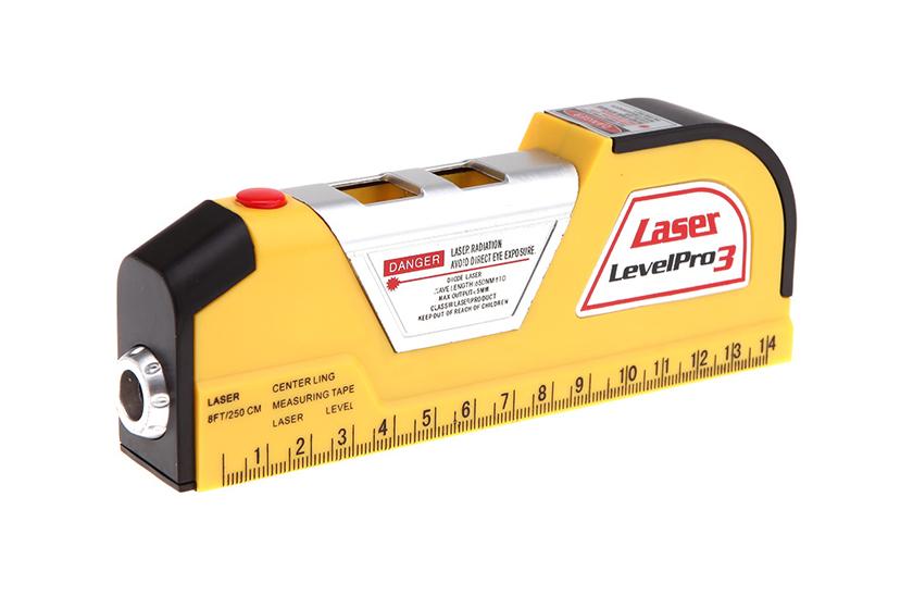 Laserová vodováha se svinovacím metrem - Level Pro 3