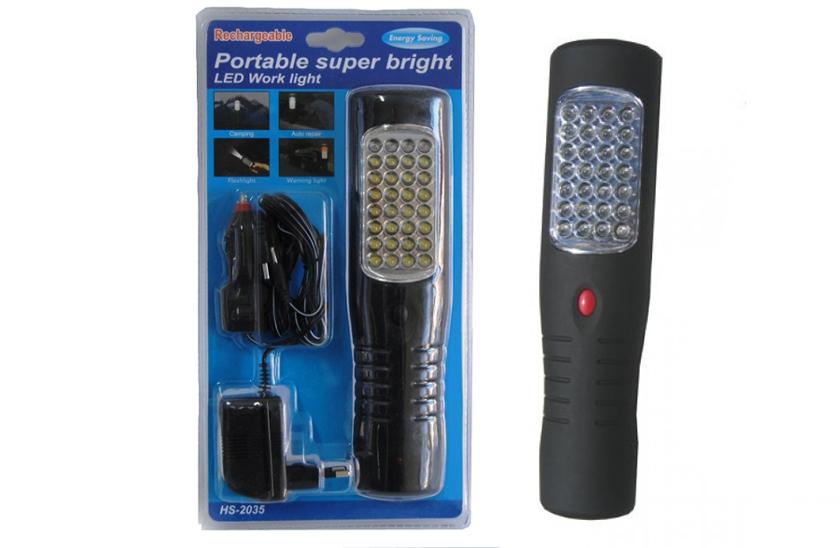 Nabíjecí AKU LED montážní lampa s háčkem a magnetem
