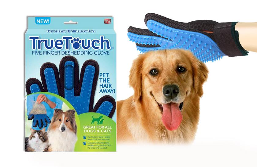 Vyčesávací rukavice na srst - True Touch
