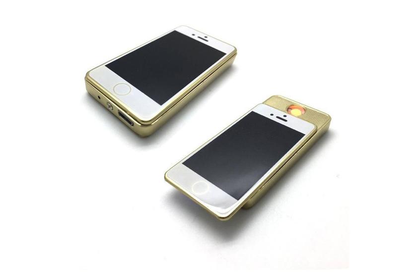 Levně Elektronický USB zapalovač - mini iPhone