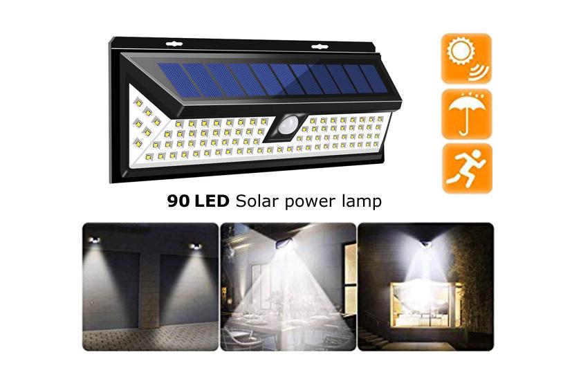 Levně Solární osvětlení 90 LED se senzorem pohybu a soumraku