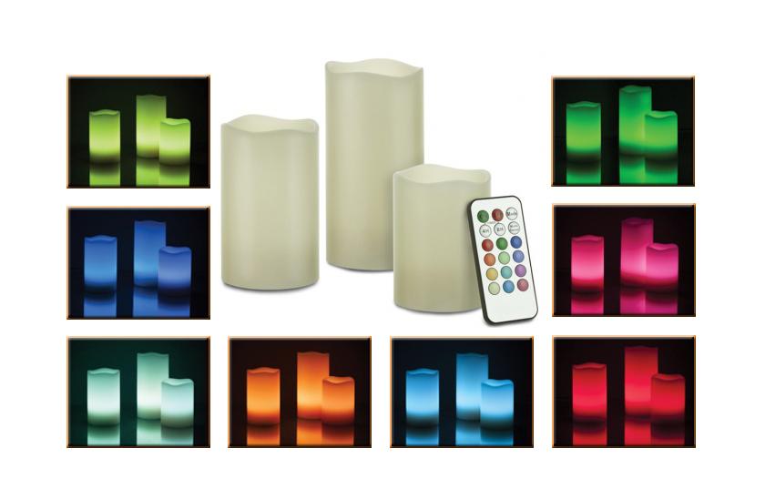Levně Led svíčky - 3 kusy na dálkové ovládání